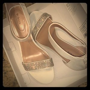Style & Co white Bling dress shoes